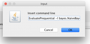 Text input to paste the command
