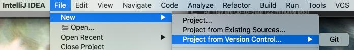 New Project From Version Control
