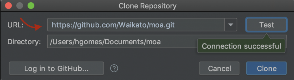 Cloning the repository.